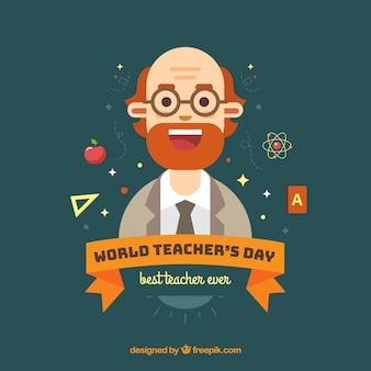 День учителя, профессор с бородой