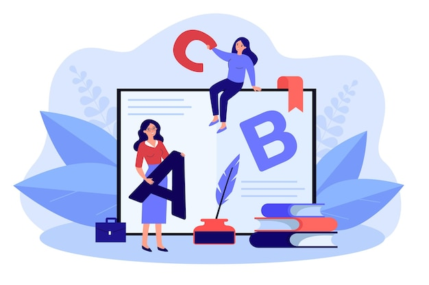 Teacher and student learning online. happy college graduate receiving diploma studying distant with trainer or supervisor. education, graduation concept. flat cartoon vector illustration.