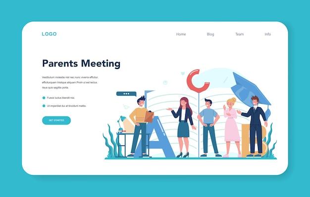 Teacher web banner or landing page