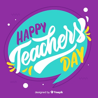 Teachers' day composition with modern lettering