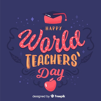 Teachers day concept with lettering