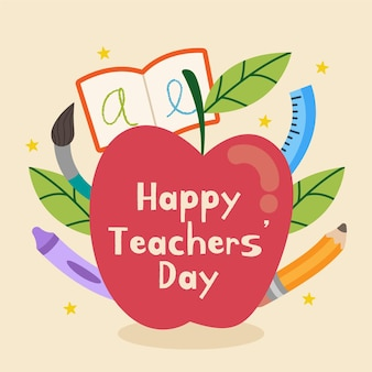 Teachers day illustrated