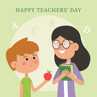 Teachers day illustration concept