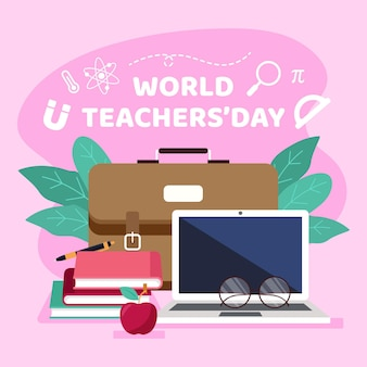Teachers day illustration design