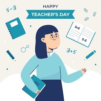 Tema dell'illustrazione del giorno degli insegnanti