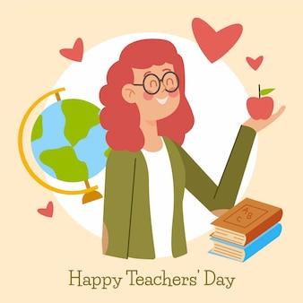 Teachers day illustration