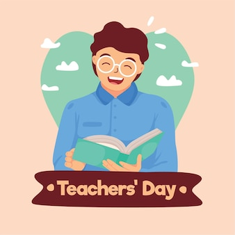 Teachers' day illustration