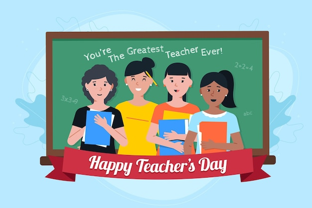 Teachers day illustration