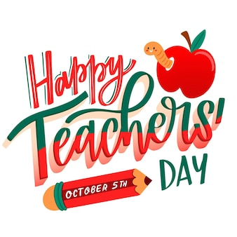 Teachers day lettering