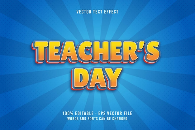 教師の日のテキスト編集可能なフォント効果