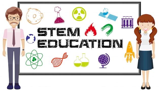 Teachers and stem education on board
