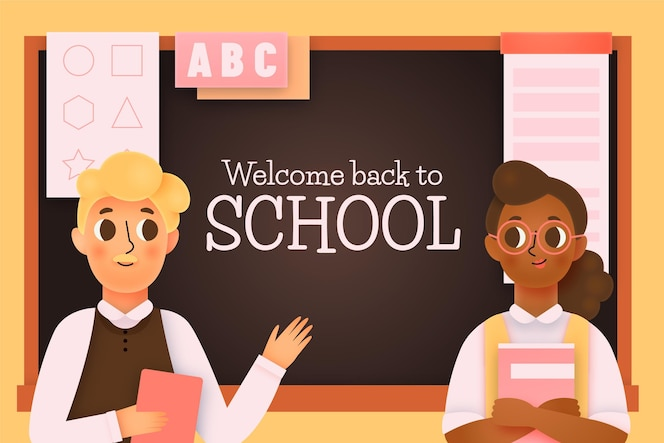 Teachers welcome back to school illustrated