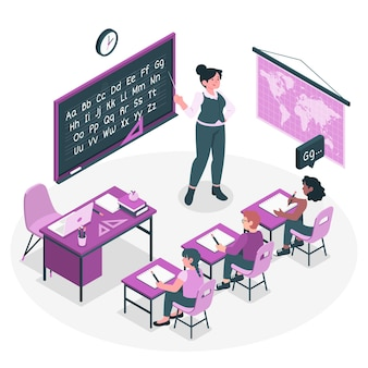 Teaching concept illustration
