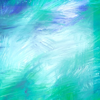 Teal abstract acrylic brush stroke textured background