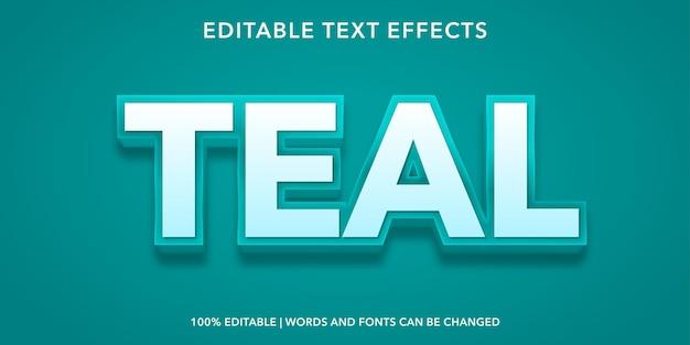 Teal editable text effect