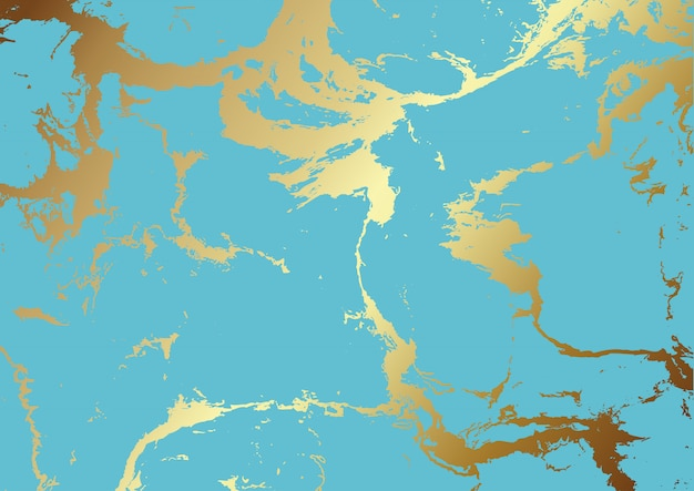 Teal and gold marble texture