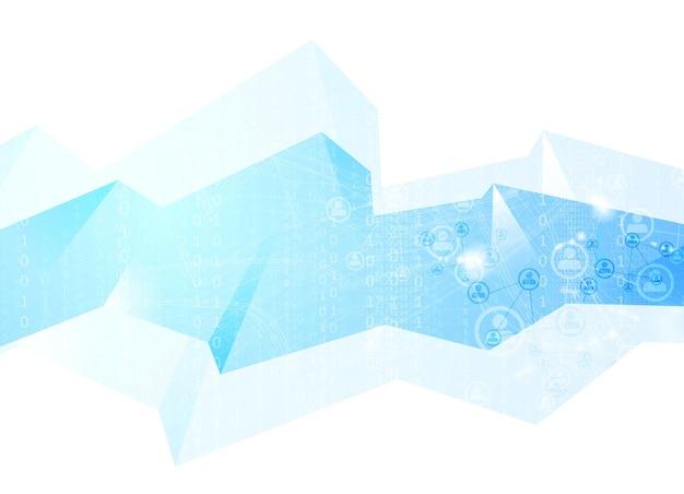 Командная коммуникационная концепция геометрического фона. векторный технический дизайн