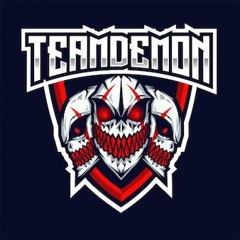 Team demon esportのロゴのテンプレート