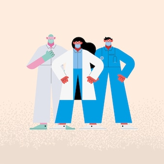 Team doctors staff