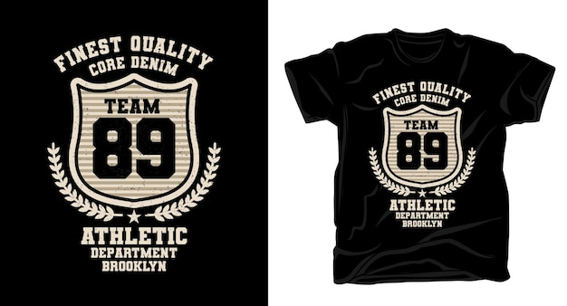 Команда восемьдесят девять типографии винтажный дизайн футболки