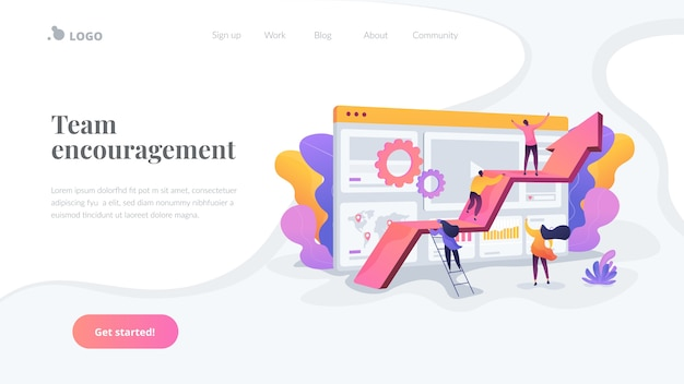 Team encouragement landing page