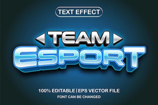 Team esport 3d editable text effect