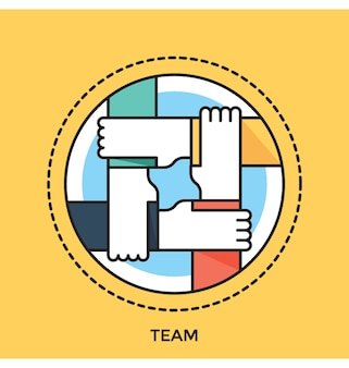 Team Flat vector Icon