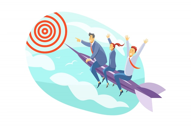 Team, goal, motivation, startup, leadership, business concept