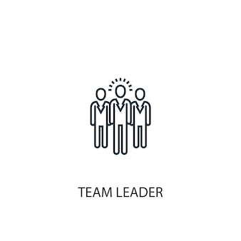 Team leader concept line icon. simple element illustration. team leader concept outline symbol design. can be used for web and mobile ui/ux