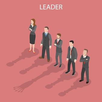 Team leader isometric flat illustrationual illustration.