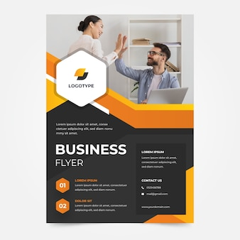 Team players company business flyer template