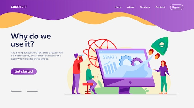 Team starting project landing page template