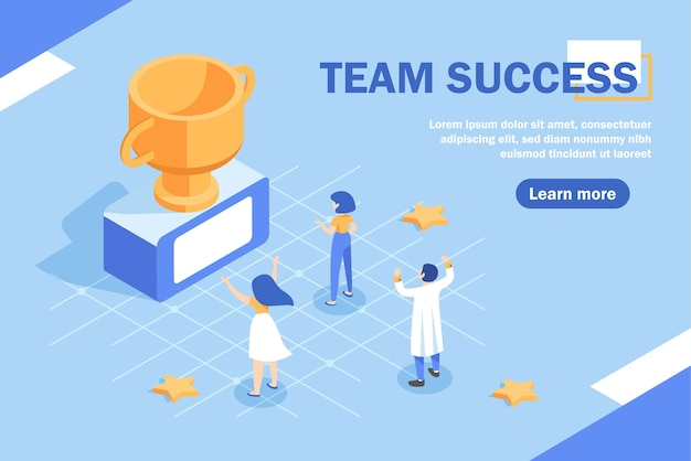 Team success concept banner. can use for web banner