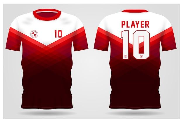 팀 유니폼과 축구 티셔츠 디자인