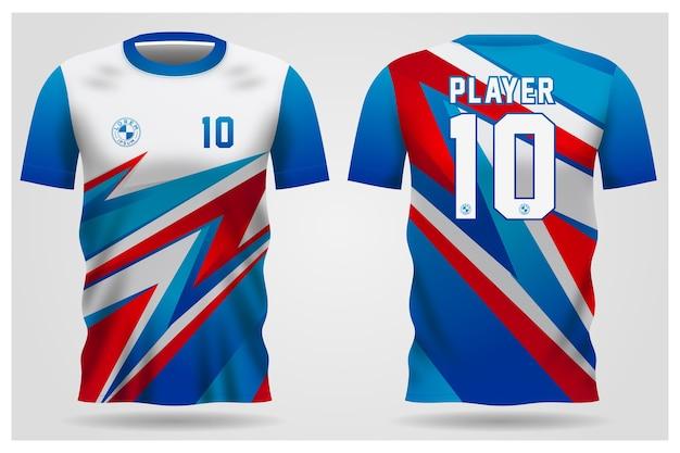 チームのユニフォームとサッカーのtシャツのデザイン