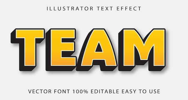 Team vector editable text effect