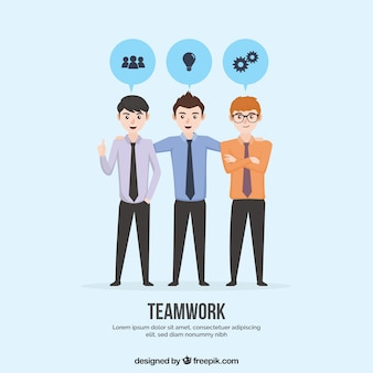 Team work background in flat style