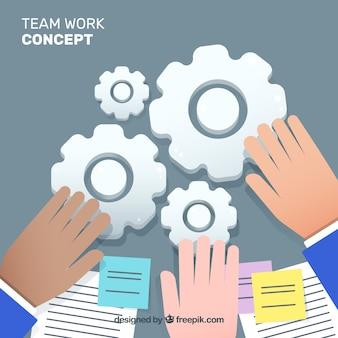 Team work business concept vector