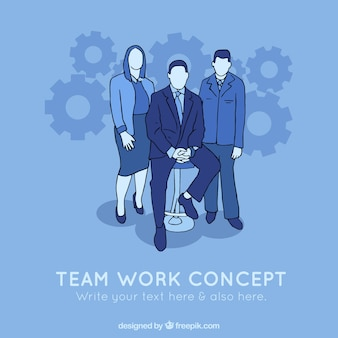 Team work concept background with employers