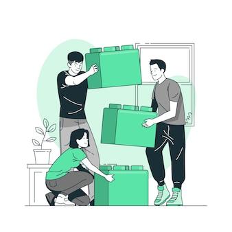 Иллюстрация концепции работы команды