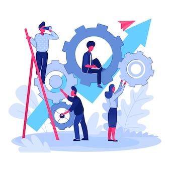 Команда работает над проектом вместе