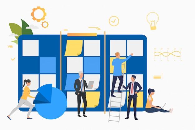 Team working on startup