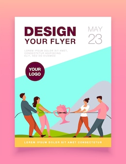 Teams competing for prize flyer template