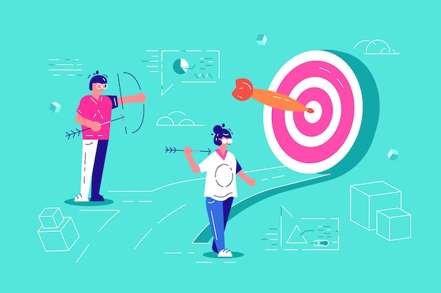 Teamwork build organizational success by setting the right marketing target