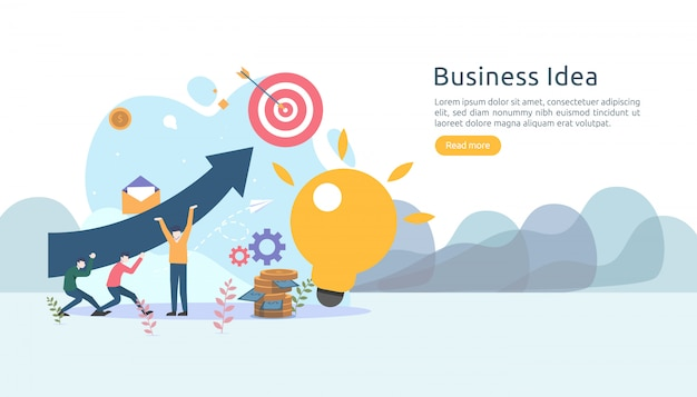 Teamwork business brainstorming idea concept