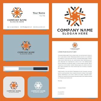 Teamwork and business card premium