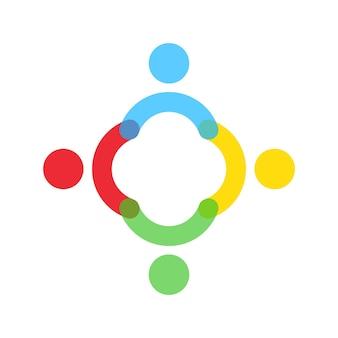 チームワークのビジネスコンセプト。グループ、一緒にアイコン。人々のグループ。チームのシンボル。ベクトルeps10。白い背景で隔離