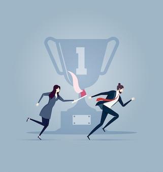 Teamwork. business concept