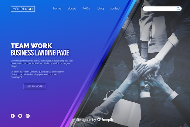 Teamwork business landing page