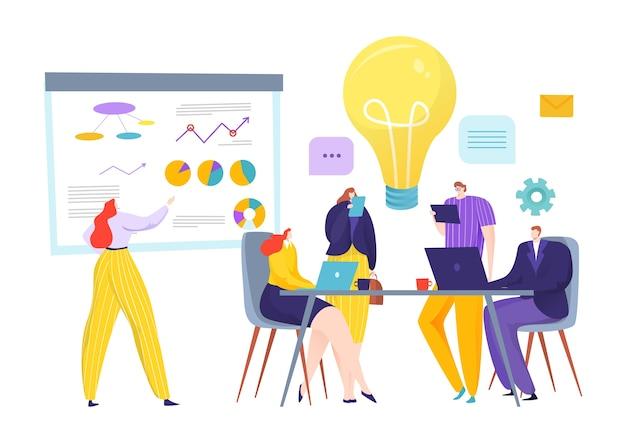 Коллективная работа деловых людей делает концепцию идеи стратегии